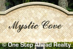 sign for Mystic Cove