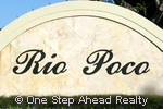 Rio Poco community sign