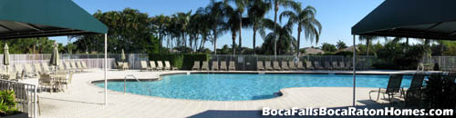 When you are done with tennis or basketball, take a dip in Boca Falls lovely pool.